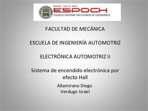 sistema de encendido electr 243 nico de efecto