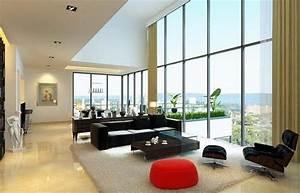 amenagement interieur 88 idees salon et chambre adulte With tapis rouge avec canapé et fauteuil salon