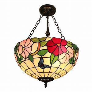 Verspielter Floraler Design Stil : reizende h ngeleuchte tiffany stil floral design glas schirm ~ Watch28wear.com Haus und Dekorationen