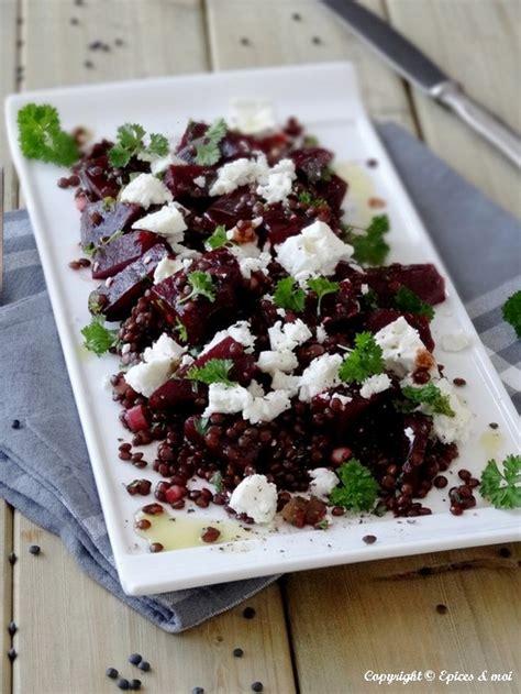 lentille cuisine salade de betteraves aux lentilles beluga et feta épices