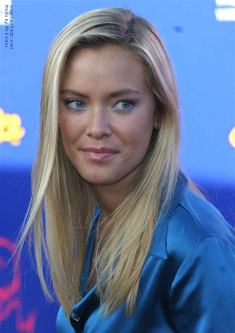 kristanna loken wearing  satin blouse  simple long hair