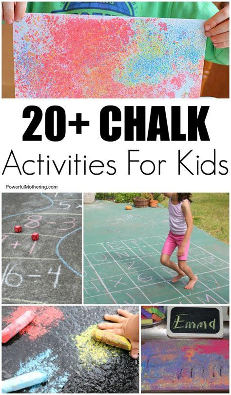 chalk art ideas  learning activities  kids