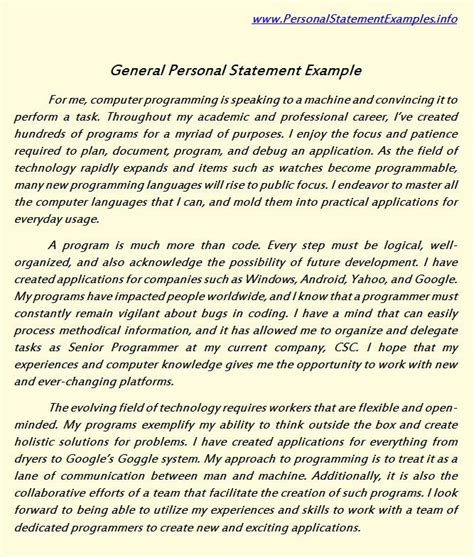 pin  personal statement sample  personal statement