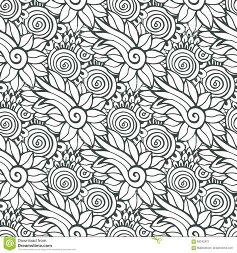 floral background  vector  coloring book page