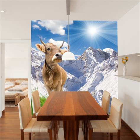 brown  mountain landscape wall mural wallpaper
