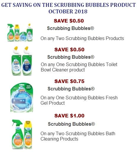 75916 Coupon Scrubbing Bubbles Shower Cleaner by Scrubbing Bubbles Printable Coupons Coupon Network