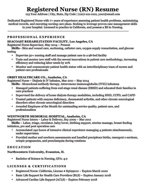Nursing Resume Template by Resume Exles Rn 1 Resume Exles Registered