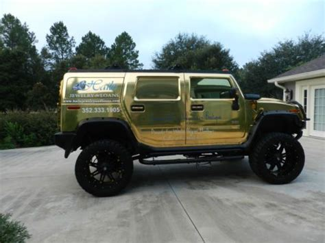sell   hummer  chrome gold lifted   rims