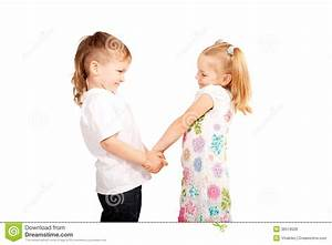 Couple Small Children Holding Hands Stock Photo - Image ...