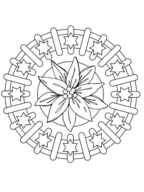 Kleurplaat Mandala Kerst by Kleurplaten En Zo 187 Kleurplaat Kerstmis Mandala Kerstster
