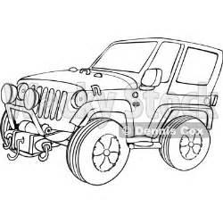 cartoon jeep wrangler outline clipart of a cartoon black and white jeep wrangler
