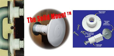 solid mount wall anchor grab bar specialists