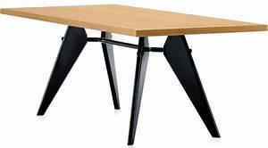 Table Jean Prouvé : vitra em table with wooden table top jean prouv ~ Melissatoandfro.com Idées de Décoration