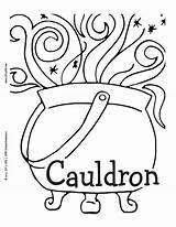 Cauldron Printable Coloring Pages Lrn Luv Colouring Comment Tag English Please Pagan sketch template