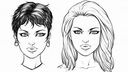 Draw Drawing Female Hairstyles Step Easy Comic