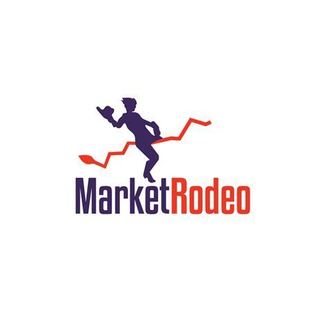 sale market rodeo bull riding stock market logo
