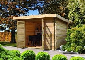 Gartenhaus 28 Mm Pultdach : woodfeeling gartenhaus pultdach bastrup 7 28 mm blockbohlenhaus natur ~ Whattoseeinmadrid.com Haus und Dekorationen