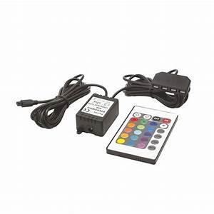 Eclairage Exterieur Avec Telecommande : kit eclairage pour ensemble tv avec telecommande azura ~ Edinachiropracticcenter.com Idées de Décoration