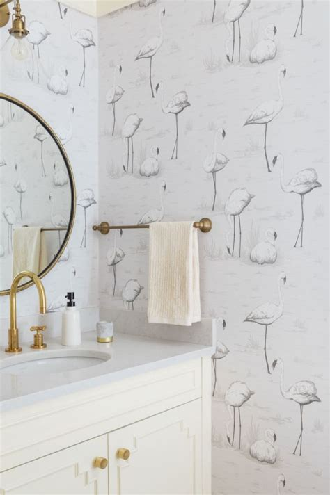 Wallpaper In Bathroom Ideas by Best 25 Bathroom Wallpaper Ideas On Half