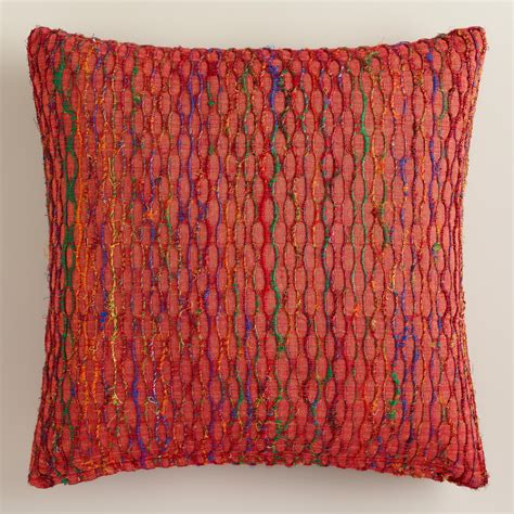 burnt orange pillows burnt orange honeycomb throw pillow world market
