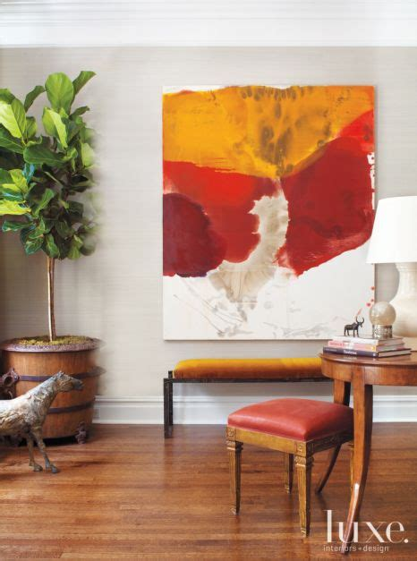 living room mustard yellow  red decor luxe interiors