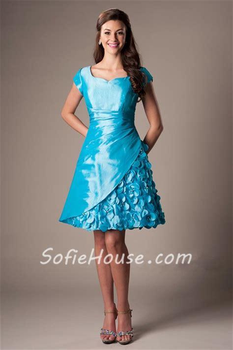 sweetheart cap sleeve turquoise blue taffeta prom