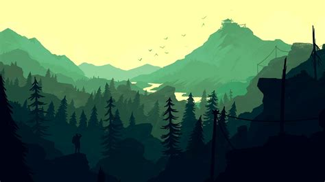 firewatch green valley    wallpapers