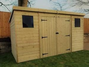 wooden garden shed    pressure treated tongue  groove pent shed ebay
