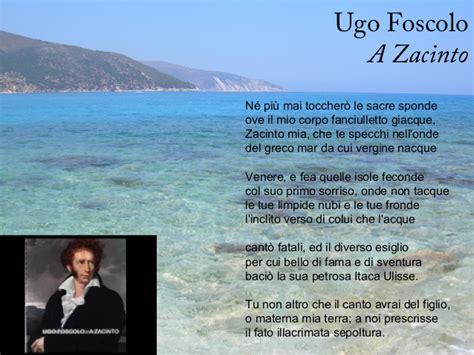 Analisi Testo Foscolo by A Zacinto