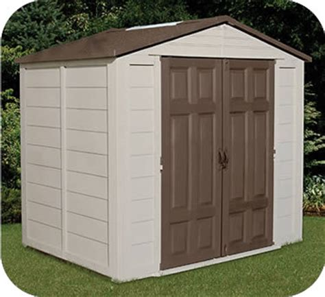 8x6 Plastic Storage Shed by Plastic Sheds
