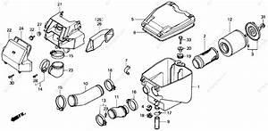 Honda Atv 1986 Oem Parts Diagram For Air Cleaner