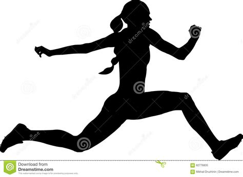 Athlete High Jump Black Silhouette Vector Illustration