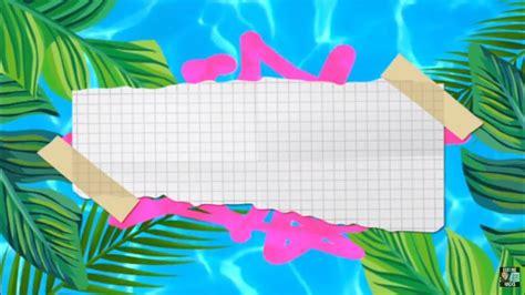 summer tropics intro template  text ieditingx youtube