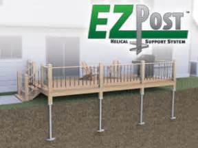 Deck Supports Home Depot by Helical Deck Piers Steel Support For Deck Sunroom Or