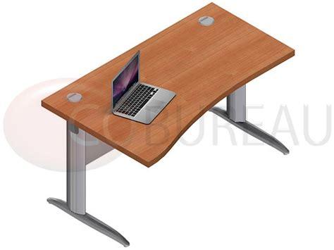 bureau pro bureau vague pro métal 140 cm pieds en l