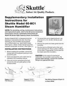 Instrucciones De Instalaci U00d3n De Humidificador Para Ducto Tipo De Vapor Marca  Skuttle Modelo 60