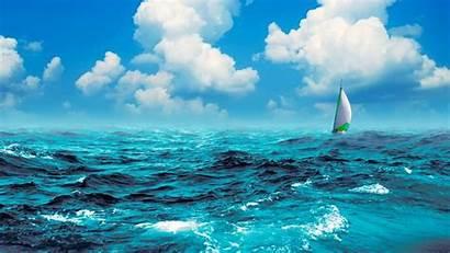 Ocean Sea Water Boat Sky Digital Cg