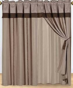 tomahawk curtain set 2 panels 60x84 quot each with attached