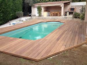 tour de piscine avec extension terrasse en cumaru a With tour de piscine en bois