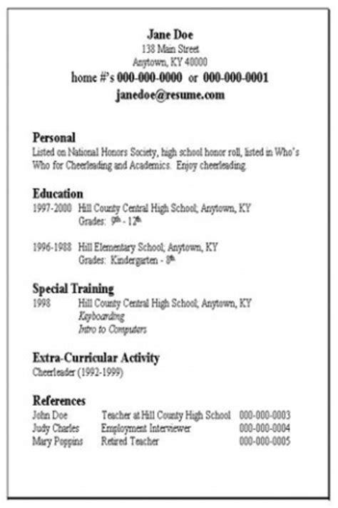 Basic Resume Exles by Resume Exles Basic Resume Templates Sle Free Basic