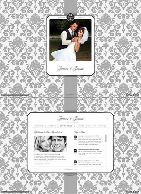 Wedding Invitation Html5 Template Demo Preview