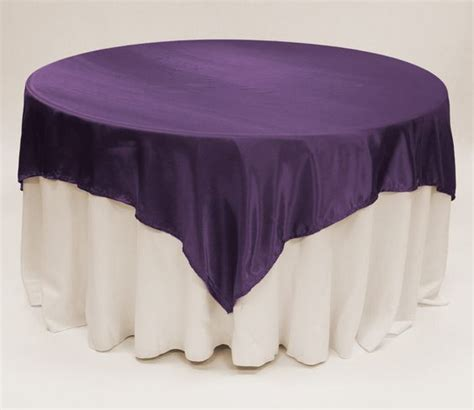 purple satin table overlay 90 square 7 39