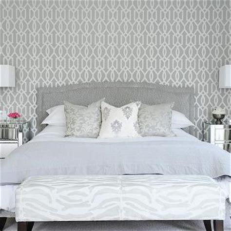 tall tufted headboard contemporary bedroom tracery