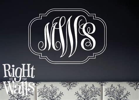 fancy script monogram letters custom wall decals vinyl art stickers