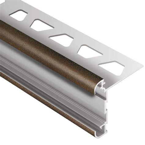 tile bullnose trim schluter rondec ct bronze textured color coated aluminum 5 16 in x 8 ft 2 1 2 in metal double