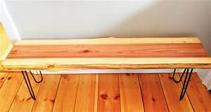 Custom, Made, Live, Edge, Rustic, Industrial, Redwood, Entryway, Bench, By, Jhm, Wood, Crafts
