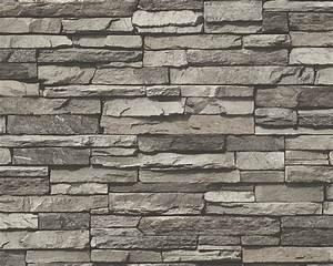Mauer Wand Wohnzimmer : vliestapete 95833 1 wood n stone mauer braun beige bei ~ Lizthompson.info Haus und Dekorationen