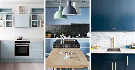 kitchen island with open shelves kitchen color inspiration 12 shades of blue cabinets
