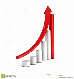 Metal Prices Chart Red Bar Chart Business Growth With Rising Up Arrow Stock