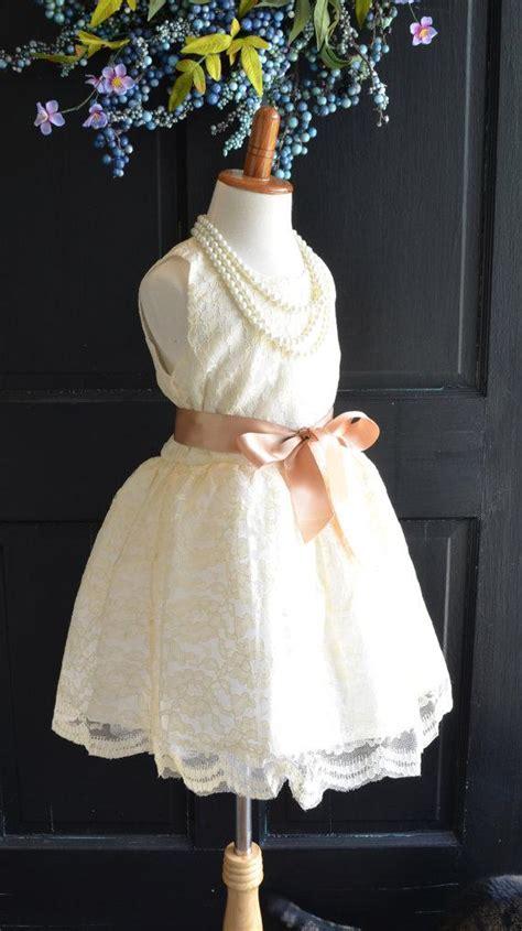 vintage shabby chic dresses ivory lace flower girl dress lace dress wedding dress bridesmaid dress vintage style dress